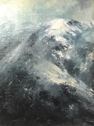 Black Mountainside, 16x12
