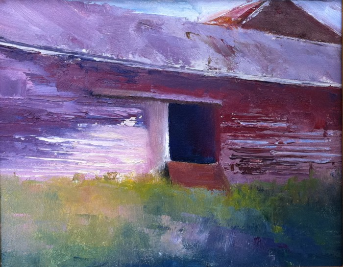 The Old Red Barn. 8x10
