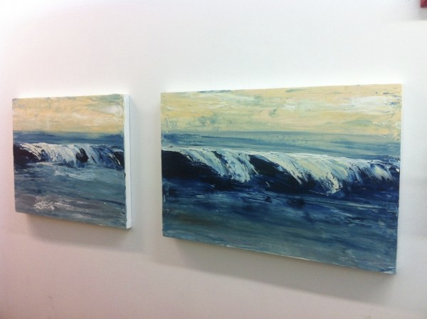 Waves Diptych 24x 66