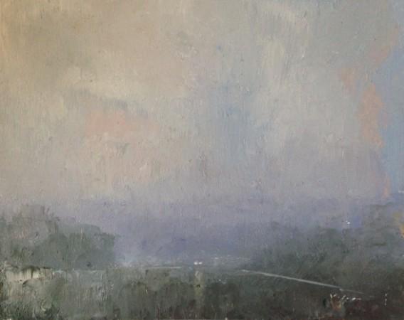 En Route (Rain), 8x10