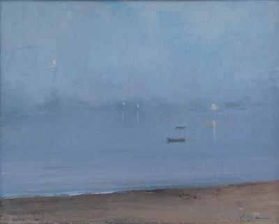 Harbor in Fog, Evening